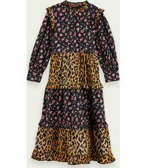 scotch & soda cotton mix-print maxi dress