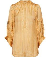 lurex stripe shirt blouse lange mouwen geel rabens sal r