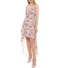 alexia admor women's floral high-low maxi dress - pink water - size 14