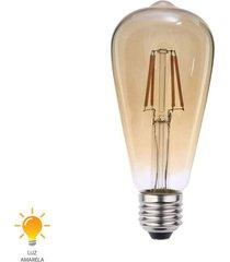 lâmpada led filamento st64 e27 4w bivolt branco quente 2200k - 0326000 - blumenau - blumenau