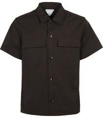 bottega veneta compact stretch popeline shirt