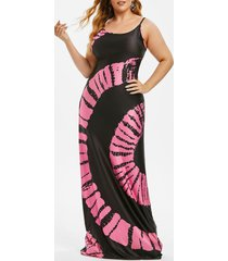 tie dye cami beach plus size maxi dress