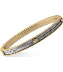charriol women's forever two-tone pvd stainless steel cable bangle bracelet