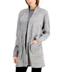 eileen fisher organic cotton high-collar cardigan