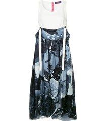 y's suspenders midi dress - blue