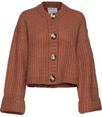 chunky cropped cardigan stickad tröja cardigan orange designers, remix