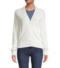 michael stars women's cotton-blend sweater - chalk - size m