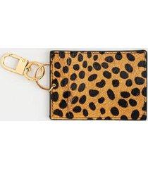 chelsea animal print card case - leopard