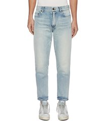 faded wash carrot jeans