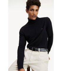 tommy hilfiger men's classic turtleneck sweater black - s