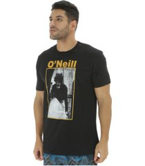 camiseta o'neill estampada photo - masculina - preto