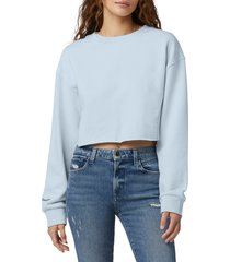 favorite daughter the jen crop sweatshirt, size small in baby blue at nordstrom