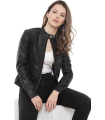 chaqueta jacqueline de yong dallas negro - calce ajustado