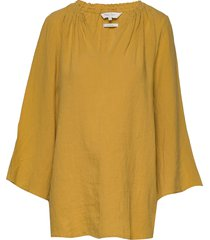 caritapw bl blouse lange mouwen geel part two