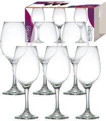jogo de taças para vinho ruvolo one 385 ml, 6 peças