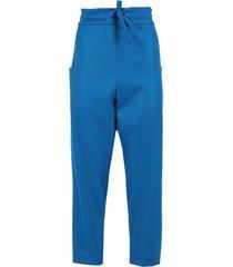 blue twill woven pants