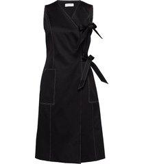 emiyo jurk knielengte zwart tiger of sweden