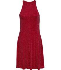 abito in lurex con scollo all'americana (rosso) - bodyflirt