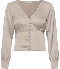anf womens wovens blouse lange mouwen crème abercrombie & fitch