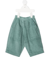 raspberry plum tailor corduroy trousers - green