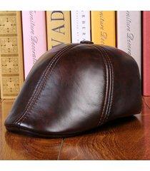 cappello di cuoio genuino del cuoio del cuoio della pelle bovina del cuoio  genuino della protezione bf99b9d19e07