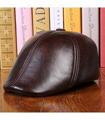uomo vacchetta vera pelle cappello berretto paraorecchie paraorecchie cuffie protettive paraorecchie
