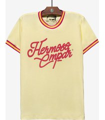 t-shirt hermoso compadre casual amarelo
