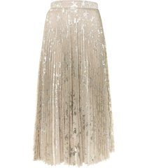 blumarine blumarine metallic pleated skirt