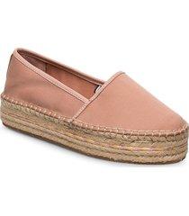 basbasic flatform espadrille sandaletter expadrilles låga rosa tommy hilfiger