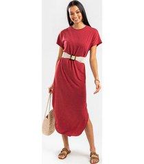 gretah knit maxi dress - rust