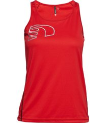 core coolskin singlet t-shirts & tops sleeveless röd newline
