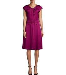 tatiana twist-front stretch-silk dress