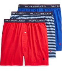 polo ralph lauren men's 3-pk. knit boxers