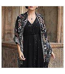wool shawl, 'eventide' (india)