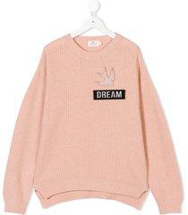 andorine ribbed knit sweater - pink