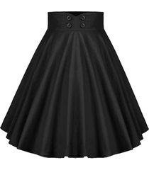 buttoned a line high rise pleated skirt