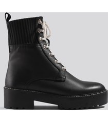 mango salma ankle boots - black