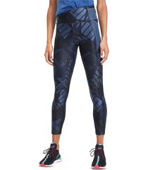 puma women's be bold printed tights - blue - size xs