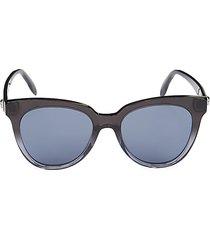 alexander mcqueen women's 53mm cat eye sunglasses - black