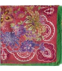etro bombay floral print silk shawl