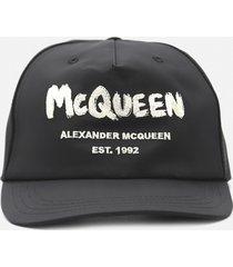 alexander mcqueen baseball cap with contrasting logo print