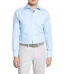 men's peter millar humboldt check button-up shirt