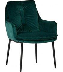 fotel welurowy kiko ciemno zielony