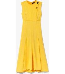 crepe seamed dress