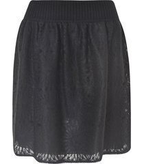 alberta ferretti perforated short skirt