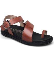 b-7413 pergamena shoes summer shoes flat sandals brun wonders