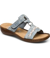 60888-00 shoes summer shoes flat sandals blå rieker