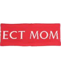 perfect moment merino logo headband - red