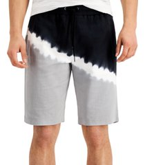 inc men's regular-fit colorblocked tie-dyed drawstring shorts, created for macy's
