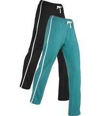 pantaloni in felpa livello 1 (pacco da 2) (nero) - bpc bonprix collection